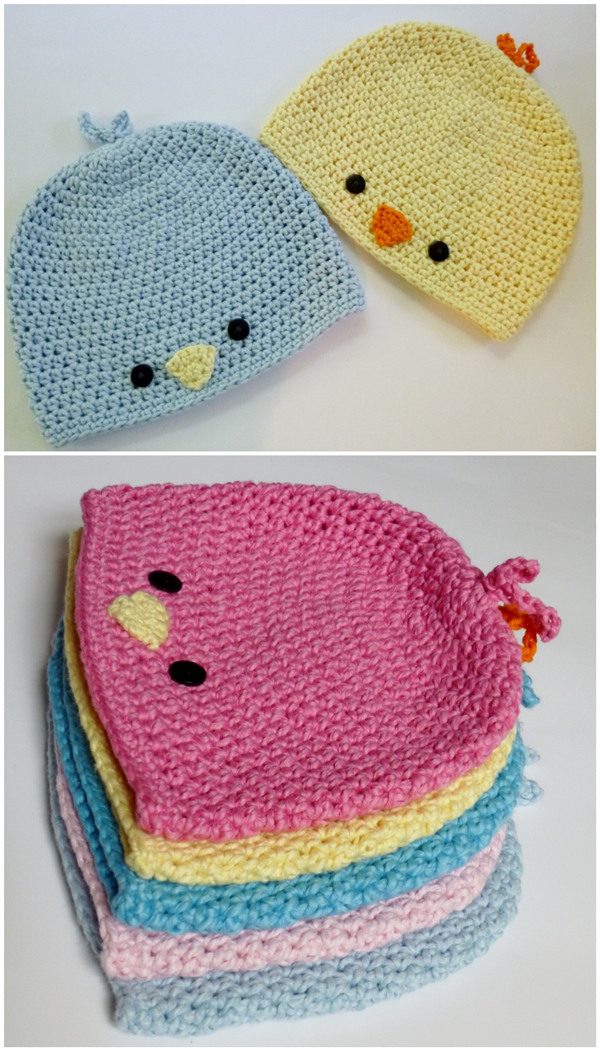 Free Crochet Pattern - Baby Chick or Baby Bird Hat