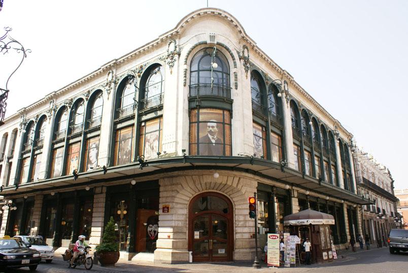 Edifico francés en el centro de Puebla