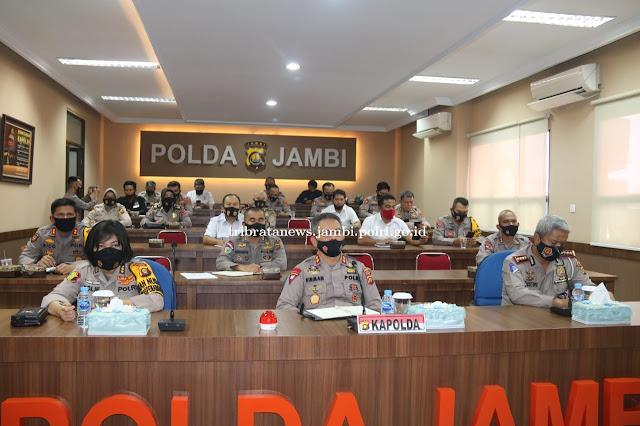 Kapolda Jambi Hadiri Vicon Pimpinan Wakapolri
