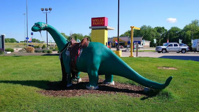 The Sinclair dinosaur - seen at Sinclair garages across America