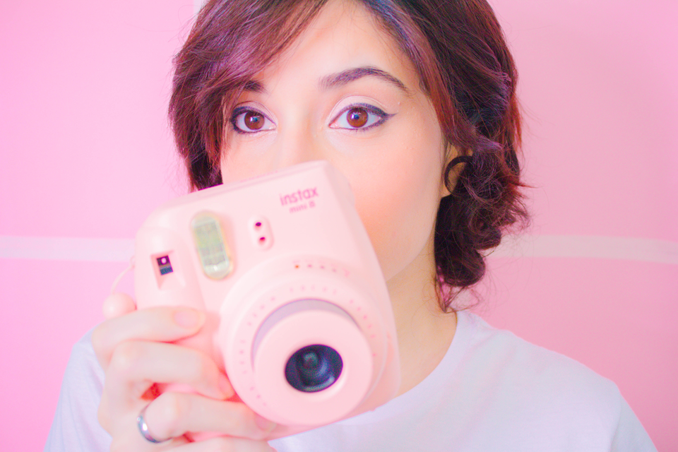 Instax Mini 8 Rosa Pink pinky and the brain