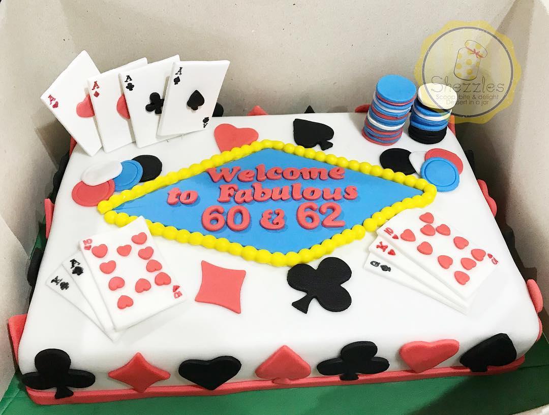Shezzles Dessert In A Jar Casino Birthday Cake