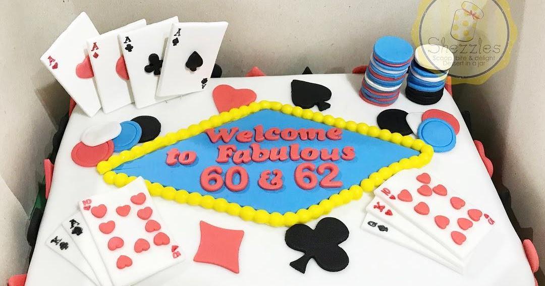 Astounding Shezzles Cakes And Pastries Casino Birthday Cake Personalised Birthday Cards Arneslily Jamesorg