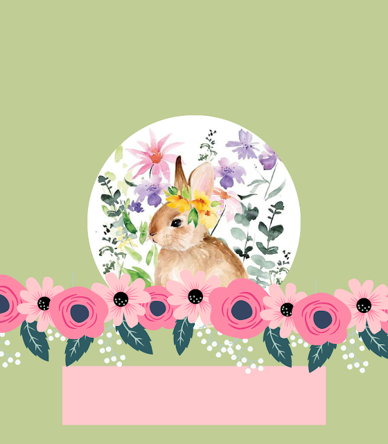 Folded Easter Place Card Printable