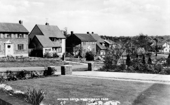 Photograph of a Postcard of Mymms Drive, Brookmans Park taken in the 1960s Image from R Kingdon
