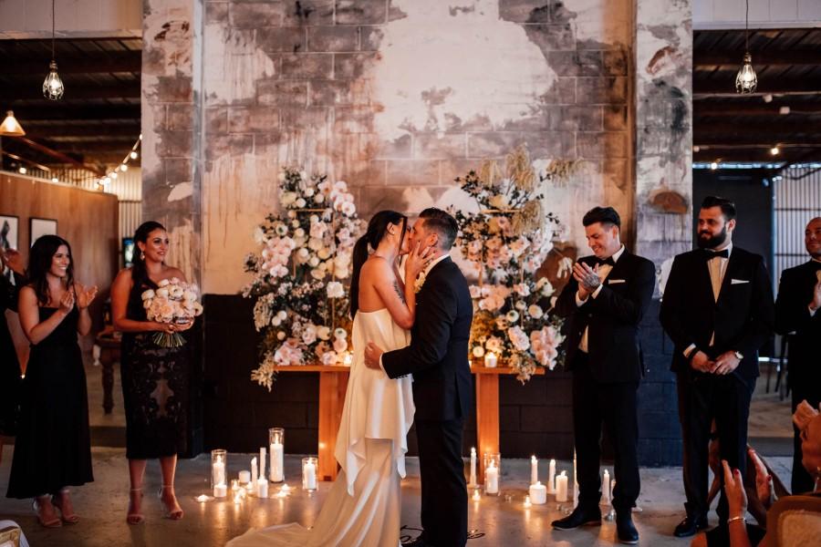 LOVE STORY: BIANCA & CLINT   INDUSTRIAL CHIC WEDDING GOLD COAST QLD