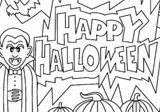Happy-Halloween-Clipart-Black & Whit- HD-Free
