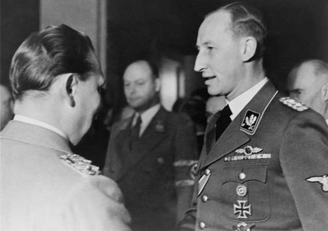 Reinhard Heydrich with Hermann Goering on 12 January 1942 worldwartwo.filminspector.com