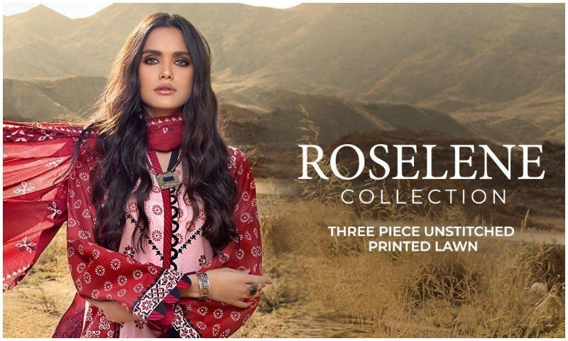 Gul Ahmed Roselene Valentine's Day Lawn Collection 2021