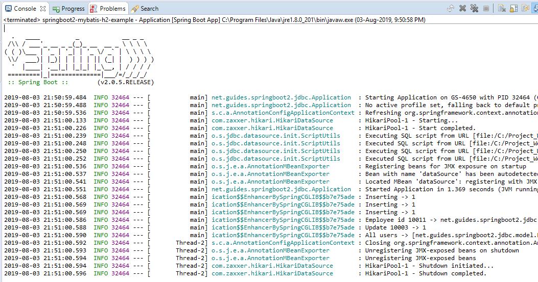 Spring Boot + MyBatis CRUD + H2 Database Example