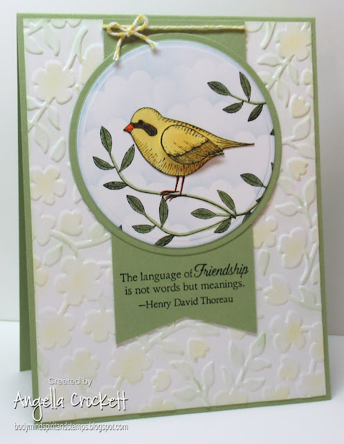 Stampin Up Language of Friendship, Card Designer Angie Crockett