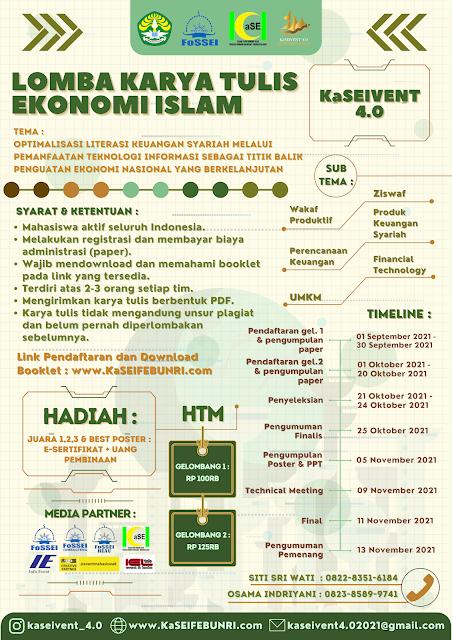 KARYA TULIS EKONOMI ISLAM NASIONAL