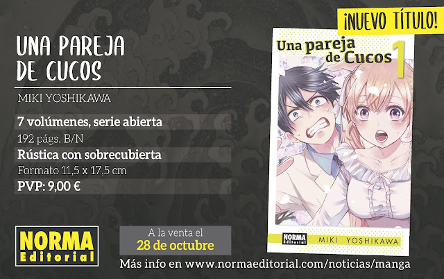 Norma Editorial licencia Una Pareja de Cucos (Kakkō no Iinazuke) de Miki Yoshikawa.