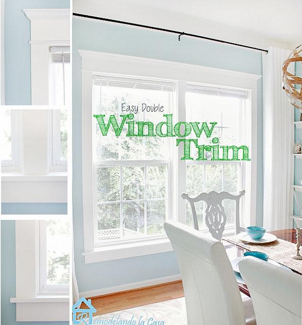 double window - trim installation