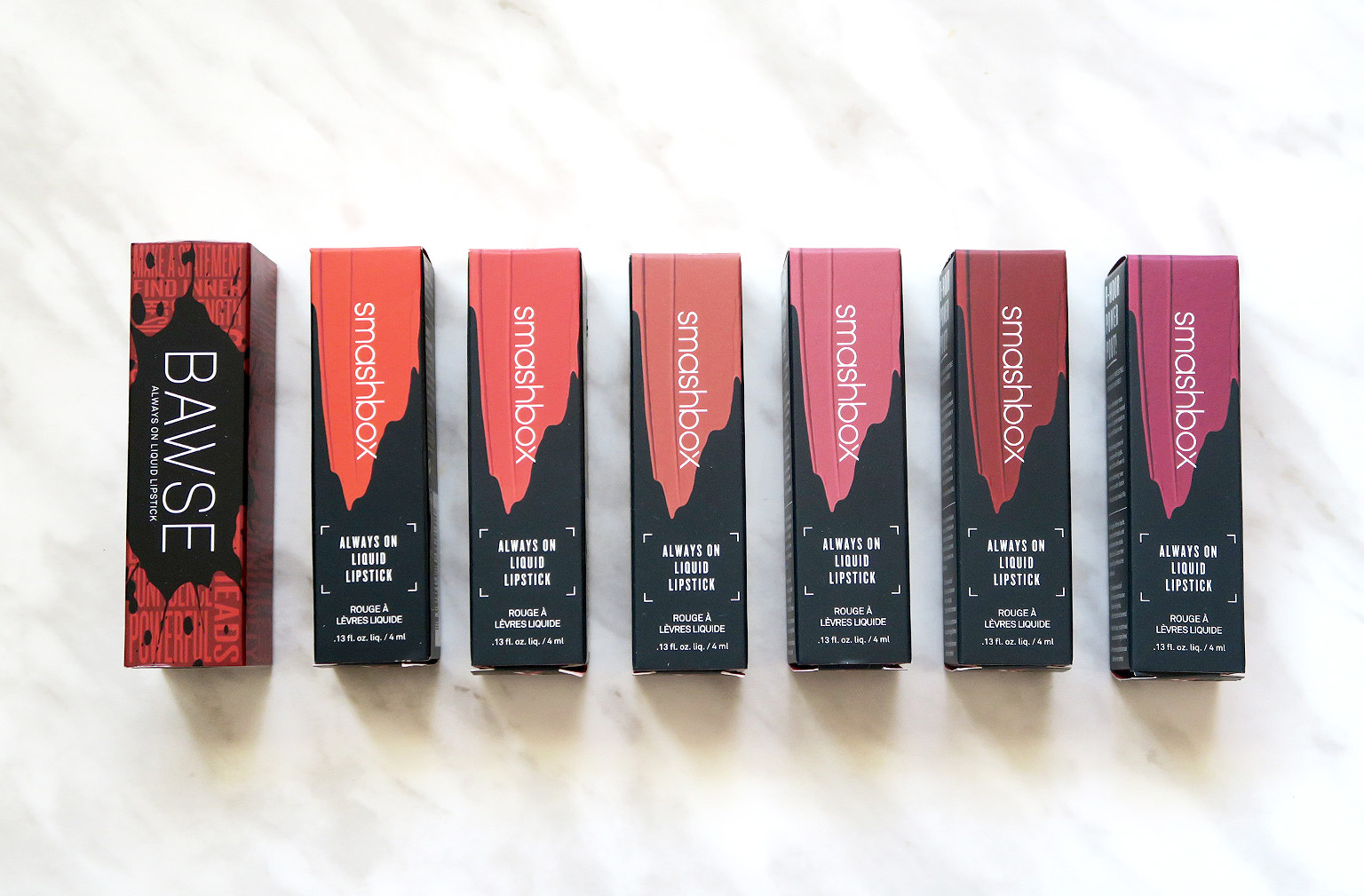 An indepth review of Smashbox's Always On Matte Liquid Lipstick, with swatches!