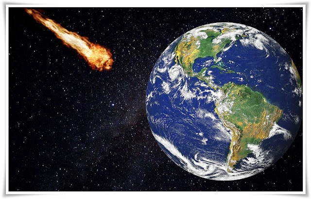 The Meteorite passed close to the earth, avoiding danger without damage