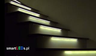 poświetlenie schodów taśmą LED
