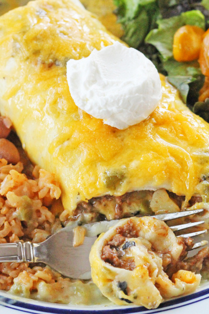 Green Chile Smothered Burritos Recipe