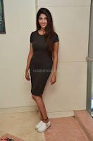 Priya Vadlamani super cute in tight brown dress at Stone Media Films production No 1 movie announcement 022.jpg