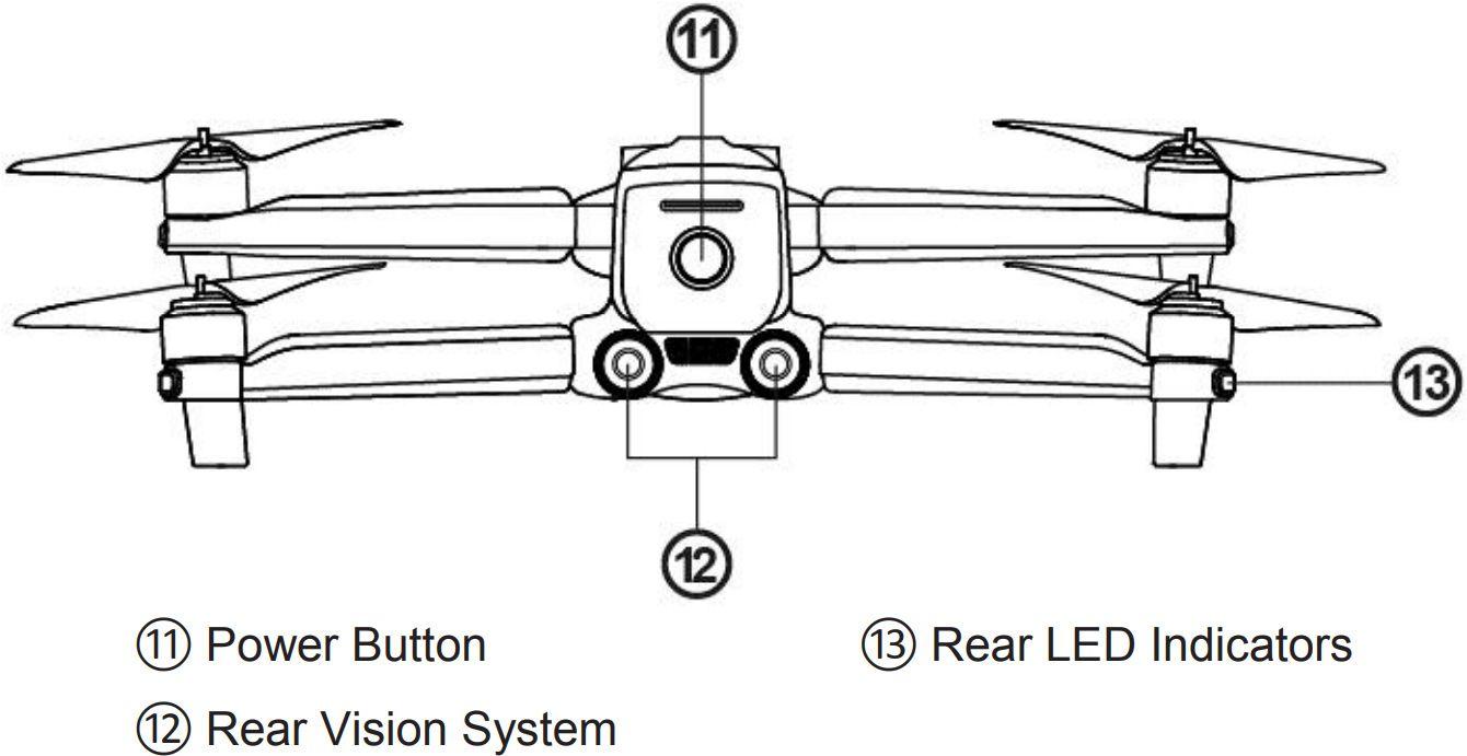 Схематичное изображение квадрокоптера Autel Evo 2
