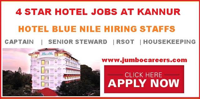 hotel management jobs in kannur, latest star hotel jobs in kannur