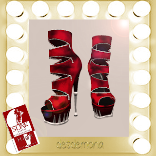 new on MARKETPLACE desdemona mesh boots HIGH FEET SLINK 49LS BOOTS