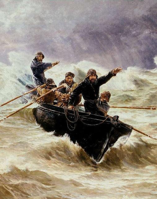 """""""A última onda"""", Emilio Ocón y Rivas, detalhe"""