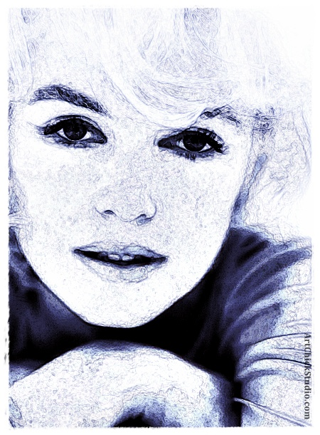 Marilyn in Blue Digital Art