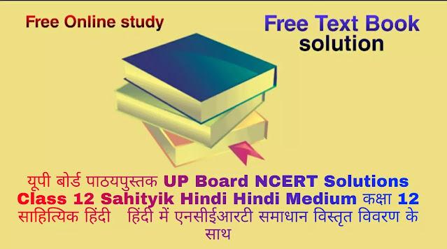 यूपी बोर्ड पाठयपुस्तक UP Board NCERT Solutions Class 12 Sahityik Hindi Hindi Medium कक्षा 12 साहित्यिक हिंदी हिंदी में