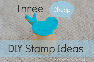 3 Cheap DIY Stamp Ideas (kids craft idea)