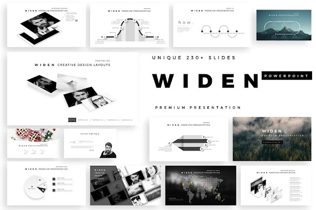 WIDEN Premium PowerPoint Template Cover Image