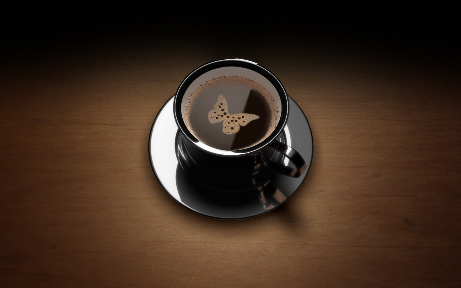 Coffee Lovers Love Hd Wallpapers: 3d Butterfly Coffee HD Love Wallpaper