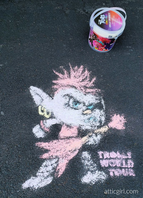 Trolls World Tour Chalk Art