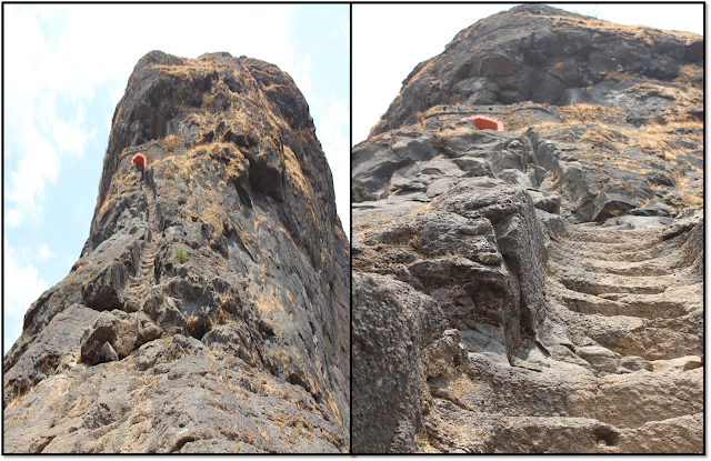 Harihar fort, rock cut stairs