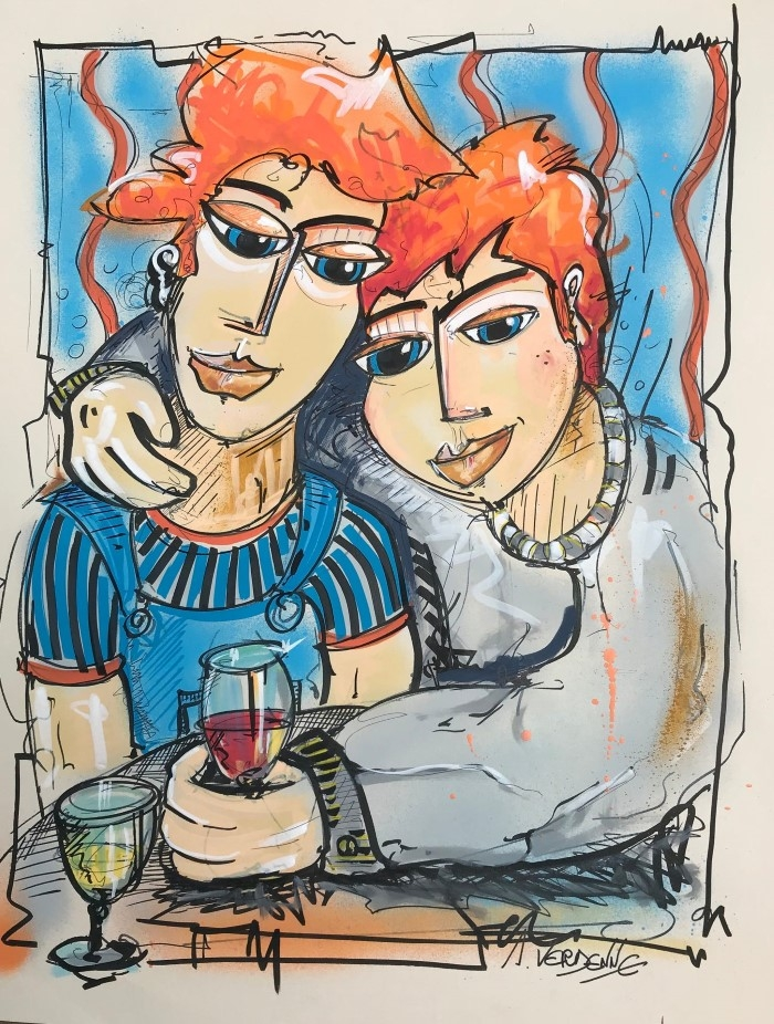 Персонажи, пьяные от цвета