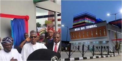 President Buhari commissions Ikeja bus terminal in Lagos