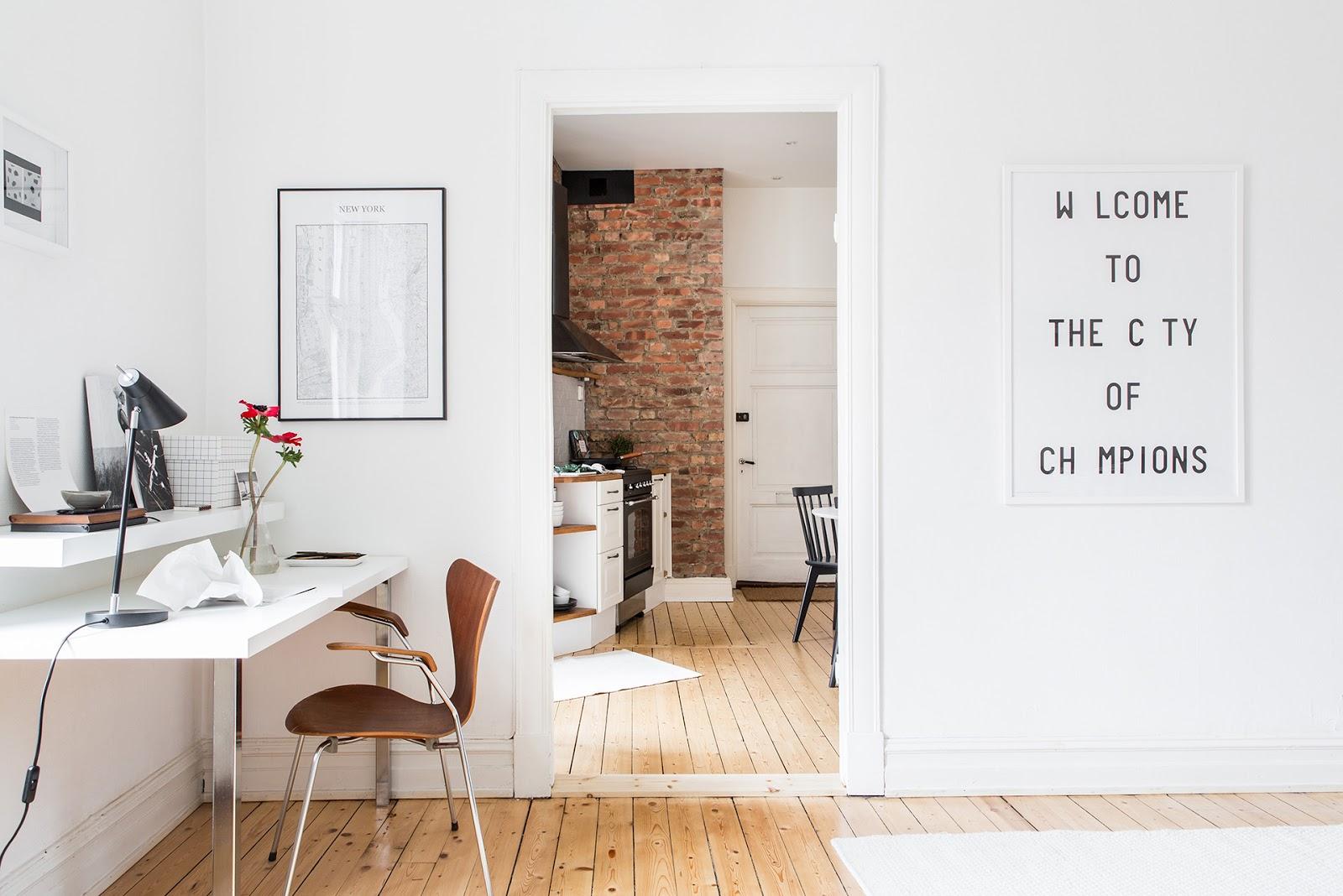 escritorio, estilo nordico, zona de trabajo en casa, silla, escritorio blanco, como decorar, decoracion nordica, estilo nordico