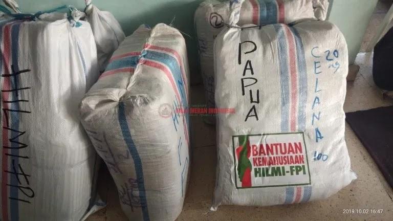 Relawan FPI 'Rampok' Barang-barang Kebutuhan Wamena dengan Lion Air
