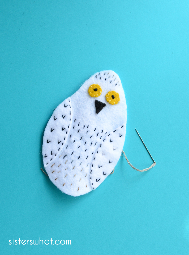 hedwig embroidery pattern felt
