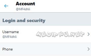 Menambahkan Nomor HP Di Twitter