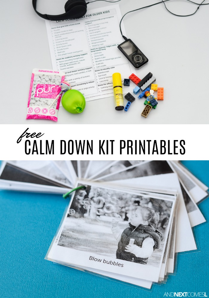 Free Calm Down Kit Printables | And Next Comes L
