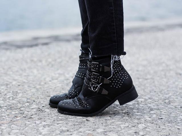 photo boots cloutées