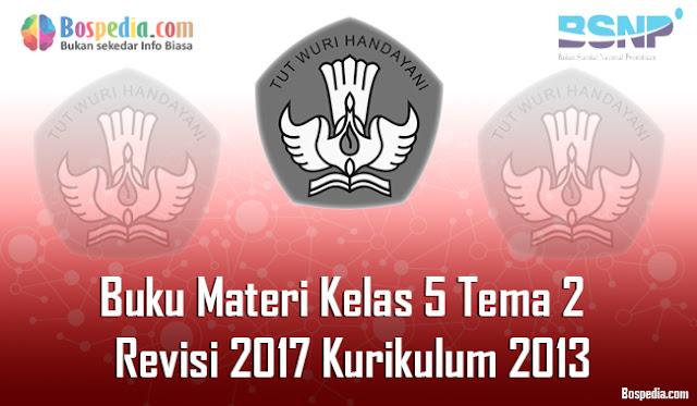 Kesempatan kali ini admin ingin menyebarkan lagi nih Buku Materi Tematik Kelas  Komplit - Buku Materi Tematik Kelas 5 Tema 2 Revisi 2017 Kurikulum 2013