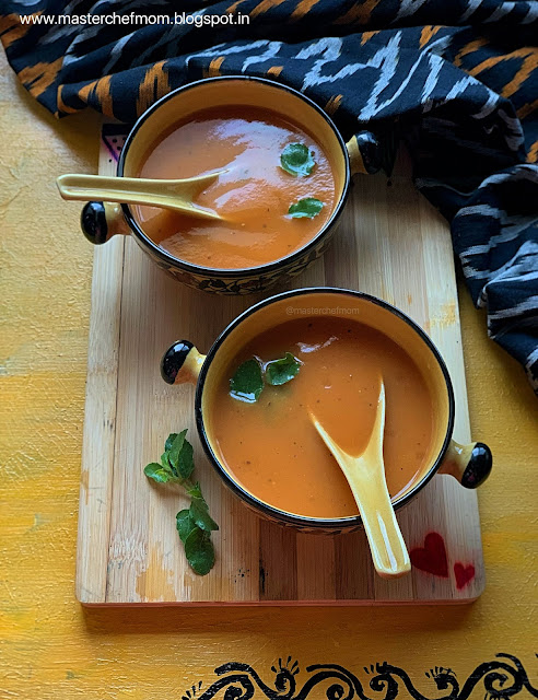 Masterchefmom's carrot soup recipe