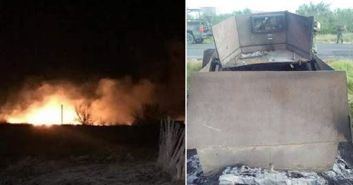 5 Monstruos blindados de Cártel del Noreste son captados esta madrugada dirigiéndose a enfrentarse al Cártel del Golfo en  poblado de Tamaulipas