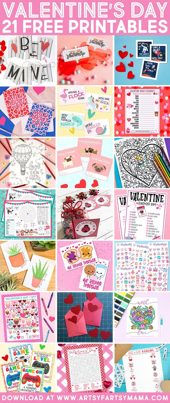 21 Free Valentine's Day Printables