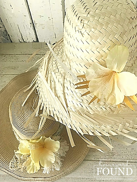 coastal style,beach style,flowers,wreaths,decorating,vintage style,farmhouse style,diy decorating,summer,re-purposing,white,diydecorating,vintage,boho style,neutrals,dollar store crafts,boho chic,boho chic fashion,boho hats,tropical floral hats,tropical floral hair clips,beach hats,macrame'
