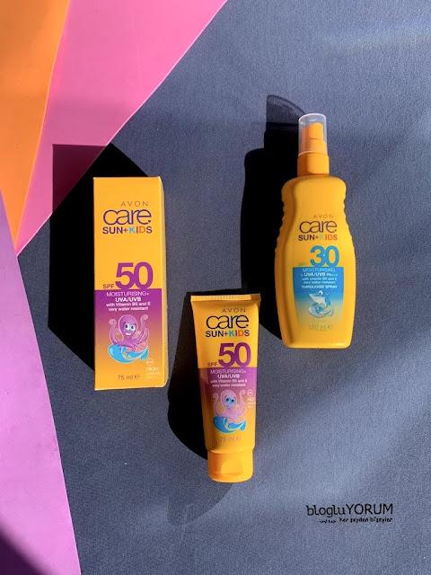 avon care sun kids spf 50 çocuklar için güneş kremi