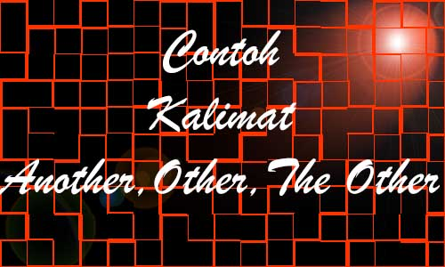 Perbedaan dan Contoh Kalimat Another, Other(s), The Other(s)