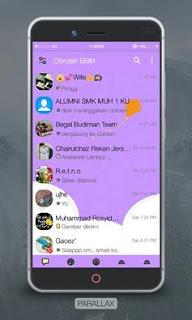 BBM Mod Parallax Reborn Apk Terbaru